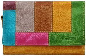 Lagen Dámská kožená peněženka LG-11/D Yellow/Multi