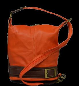 Kožená kabelka crossbody Adele Arancione