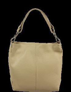 Italské kožené kabelky Chola Taupe