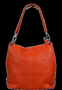 Oranžové kožené kabelky přes rameno Fiora Arancione