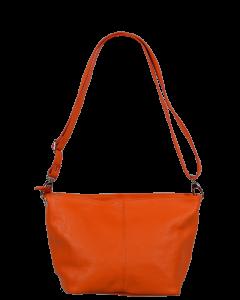 Malá kožená oranžová kabelka Batilda Arancione Chiaro