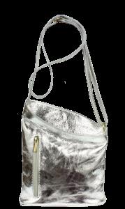 Italská kožená kabelka Angola Argento