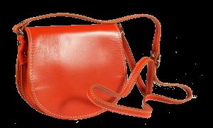 Malá kožená kabelka přes rameno Mina Arancione