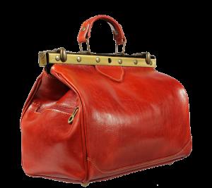 Doktorská kožená kabelka Regina Arancione