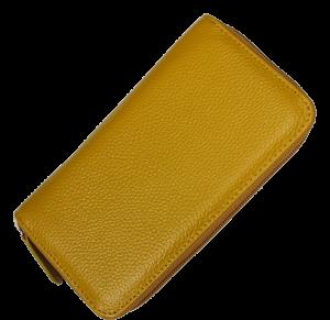 Levná kožená peněženka WB005 Giallo