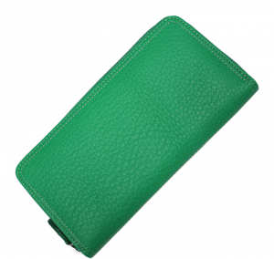 Zelená kožená peněženka HS001 Verde