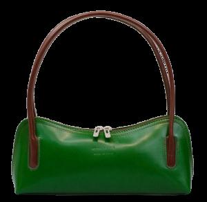 Malé zelené kožené kabelky do ruky Ciosa Verde Marrone