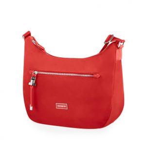 Samsonite Dámská kabelka přes rameno Karissa Hobo Bag 34N – červená