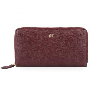 Braun Büffel Dámská kožená peněženka Asti 50455 – vínová