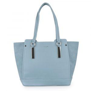fc9b714e12 David Jones Paris Dámská shopper kabelka CM5141 – světle modrá