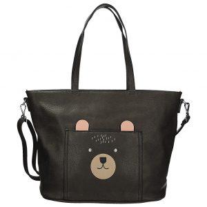 Béžovo-šedá kabelka s motivem míša