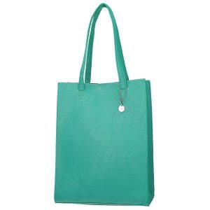 Stylová zelená dlouhá kabelka přes rameno