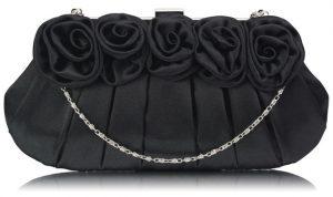 Psaníčko Fashion Satin Rose – černé černá – černá