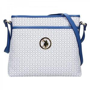 Dámská crossbody kabelka U.S. POLO Ritta – bílo-modrá