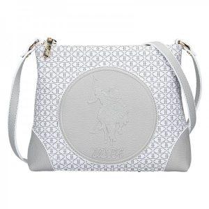 Dámská crossbody kabelka U.S. POLO Vilma – šedo-bílá