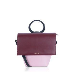 Bordó-fialová kabelka/batoh – Ina – II.Jakost 44459