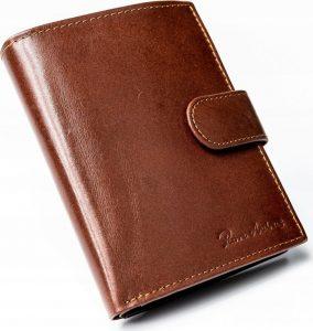 Hnědá pánská peněženka PIERRE ANDREUS RFID D1072L-VT-NL BROWN Velikost: univerzální