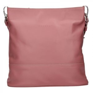 Dámská kožená crossbody kabelka Facebag Karla – růžová