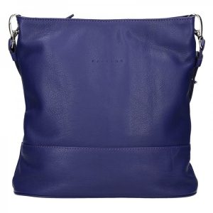 Dámská kožená crossbody kabelka Facebag Karla – modrá