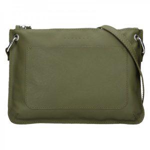 Trendy dámská kožená crossbody kabelka Facebag Nicol – olivová
