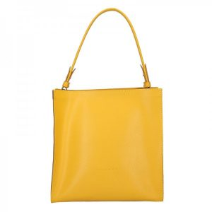 Dámská kožená kabelka Facebag Ange – žlutá