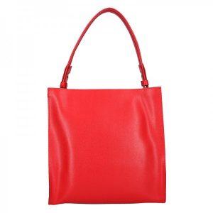 Dámská kožená kabelka Facebag Ange – červená