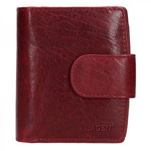 Dámská kožená peněženka Lagen Marcela – vínová
