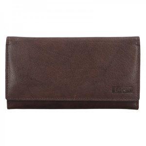 Dámská kožená peněženka Lagen Victoria – tmavě hnědá
