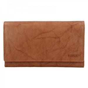 Dámská kožená peněženka Lagen Victoria – světle hnědá