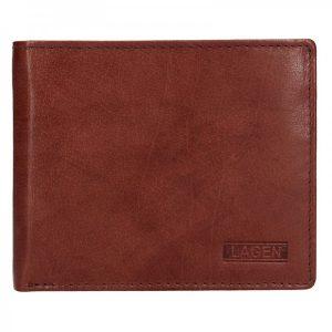 Pánská kožená peněženka Lagen Magnus – hnědá