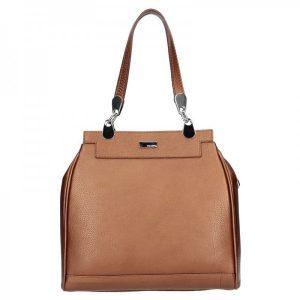 Dámská kožená kabelka Facebag Evrika – hnědá