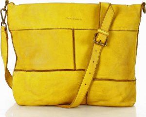 MARCO MAZZINI žlutá kožená kabelka (v22c) Velikost: univerzální