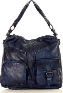MARCO MAZZINI modrá kabelka (v23c) Velikost: univerzální