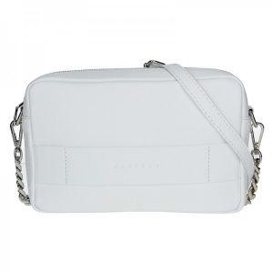 Trendy dámská kožená crossbody kabelka Facebag Ninas – bílá
