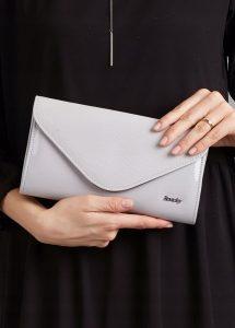 ROVICKY Elegantní šedé psaníčko W35 Velikost: univerzální