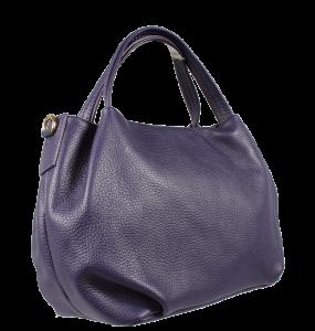 Kožená kabelka do ruky Tea Viola Scura