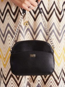 DAVID JONES Černá crossbody kabelka s řetízkem CM5018 BLACK Velikost: univerzální