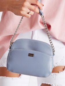 DAVID JONES Modrá crossbody kabelka s řetízkem CM5018 L.BLUE Velikost: univerzální