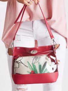 DAVID JONES Transparentní červená kabelka 5935-1 ROSE RED Velikost: univerzální