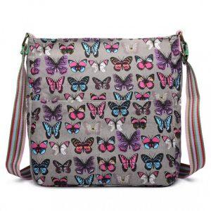 Kabelka Korra LULU Butterfly – šedá šedá