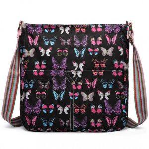 Kabelka Korra LULU Butterfly – černá
