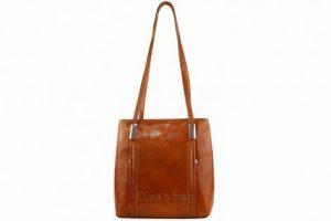Kabelka batoh Cereta kožená – hnědá cognac
