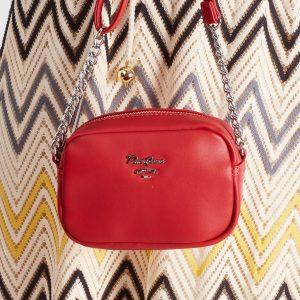 DAVID JONES Malá červená crossbody kabelka 5969-1 RED Velikost: univerzální
