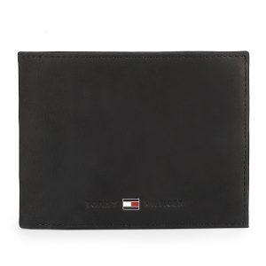 Tommy Hilfiger Pánská kožená peněženka Johnson Flap AM0AM00660 – černá