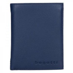 Pánská kožená peněženka Bugatti Armas – modrá