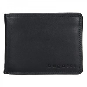 Pánská kožená peněženka Bugatti Werner – černá