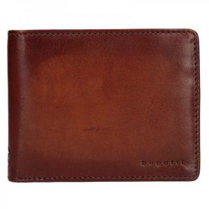 Pánská kožená peněženka Bugatti RFID1 – koňak