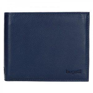 Pánská kožená peněženka Bugatti Sempre – modrá