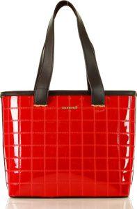 MONNARI Červená shopper kabelka (8320b) Velikost: univerzální