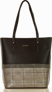 MONNARI Černá shopper kabelka s šedým vzorem (A250a) Velikost: univerzální
